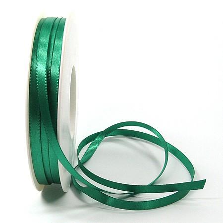 Satinband SINFINITY, petrol: 6mm breit / 50m-Rolle, mit feiner Webkante.