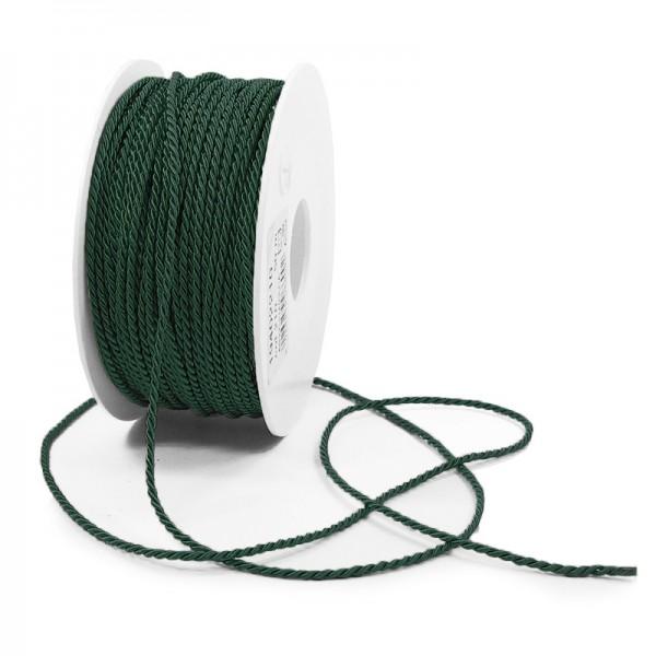 Kordel: 2mm breit / 50m-Rolle, tannengrün.