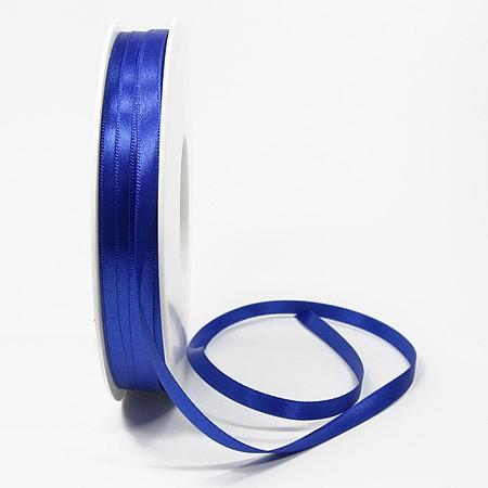Satinband SINFINITY, royalblau: 6mm breit / 50m-Rolle, mit feiner Webkante.
