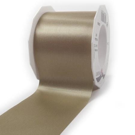 Satinband-ADRIA, Tischband: 72 mm breit / 25-Meter-Rolle, taupe