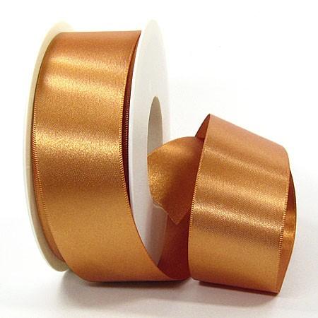 Satinband-SINFINITY, caramel: 38mm breit / 25m-Rolle, mit feiner Webkante.