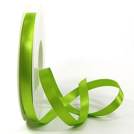 Satinband-SINFINITY, lindgrün: 10 mm breit / 25 Meter, mit feiner Webkante.