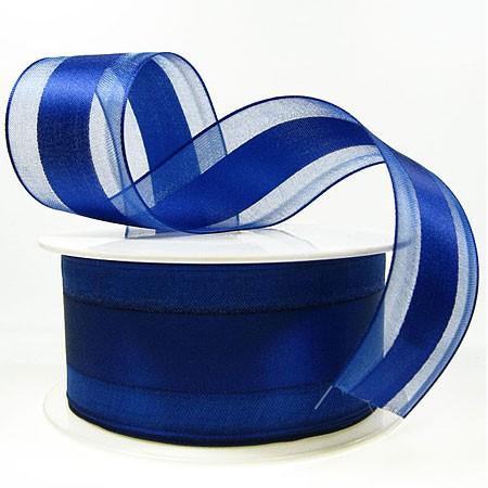 Dekorband-CHARMING, royalblau: 40mm breit / 25m-Rolle