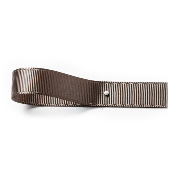 Ripsband: 10mm breit / 25m-Rolle, dunkelgrau.