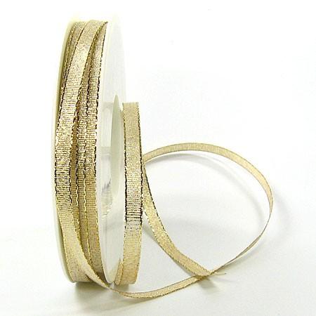 Brokatband-SINFINITY: 6 mm breit / 50m-Rolle, gold