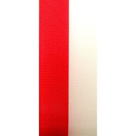 ROT-WEISS Vereinsband: 15mm breit / 25m-Rolle