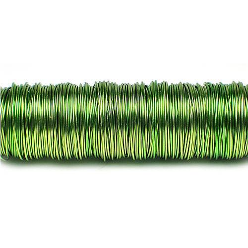 Decolackdraht, apfelgrün: 0,5mm Ø - 50m-SNAP-Spule = 100 gramm
