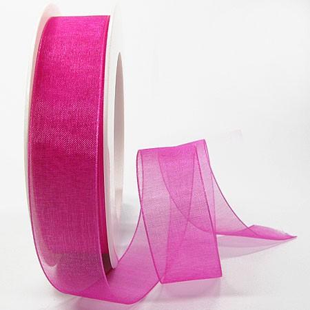 Organzaband: 25mm breit / 25m-Rolle, pink: 1250025121