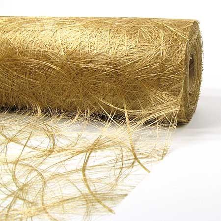 Original Sizoweb Dekovlies: 30cm / 25m-Rolle, gold