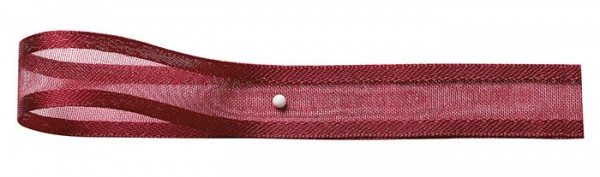 Florband: 15mm breit / 25m-Rolle, weinrot