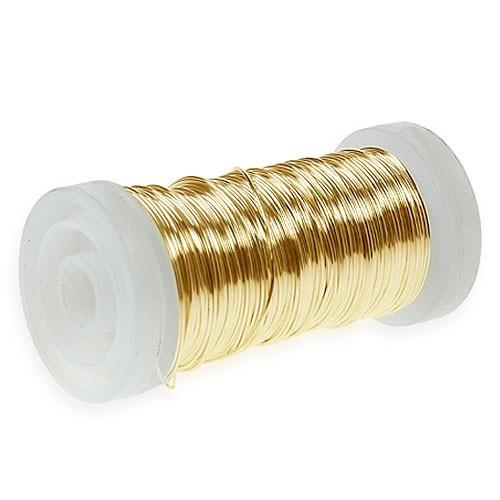 Myrtendraht, Gold: 0,30mm Ø - 100 Gramm, 160 Meter auf SNAP-Spule