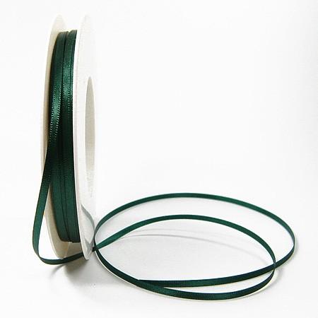 Satinband SINFINITY, tannengrün: 3mm breit / 50m-Rolle, mit feiner Webkante.