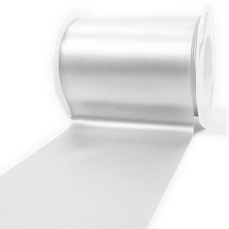 Satinband-ADRIA, Tischband: 112 mm breit / 25-Meter-Rolle, weiss