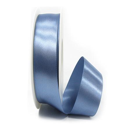 Satinband-SINFINITY, aquablau: 25mm breit / 25m-Rolle, mit feiner Webkante