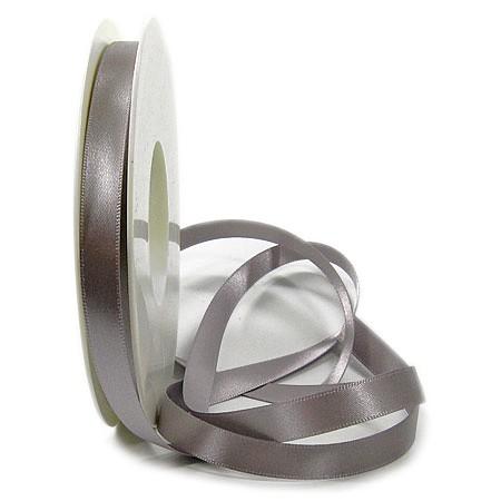 Satinband SINFINITY, silber-grau: 10mm breit / 25m-Rolle, mit feiner Webkante.