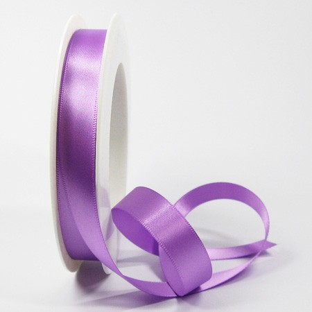 Satinband-SINFINITY, lavendel: 15mm breit / 25m-Rolle, mit feiner Webkante