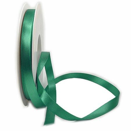 Satinband SINFINITY, petrol: 10mm breit / 25m-Rolle, mit feiner Webkante.