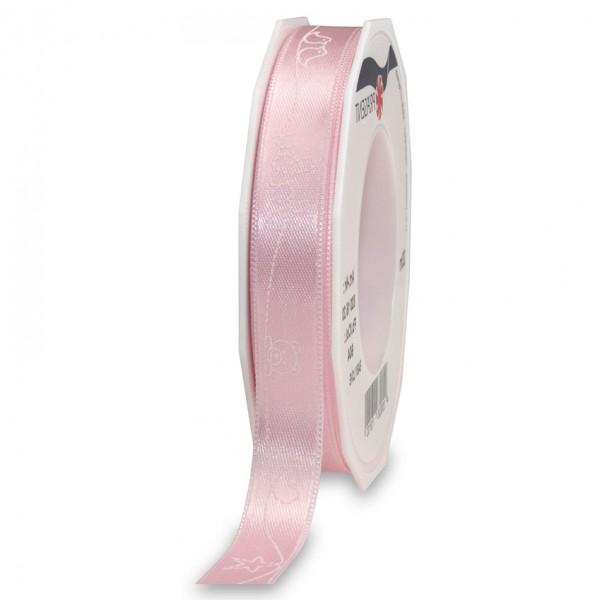 BABY-LOVE-Dekorband: 15mm breit / 20m-Rolle, rosa